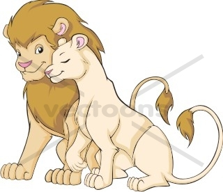 Lion clipart male and female #13