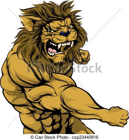 Lion clipart tough #7