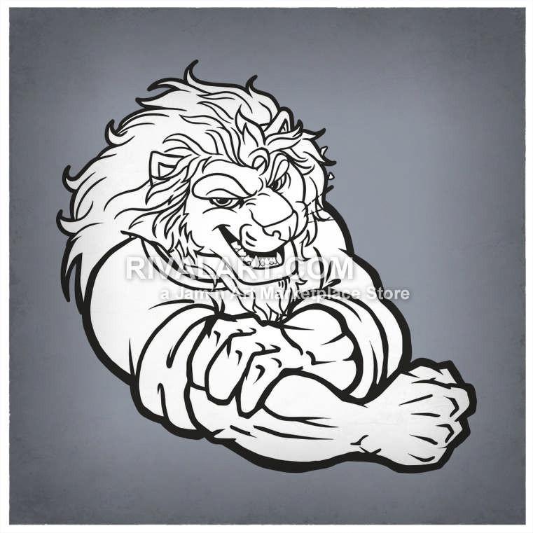 Lion clipart tough #6