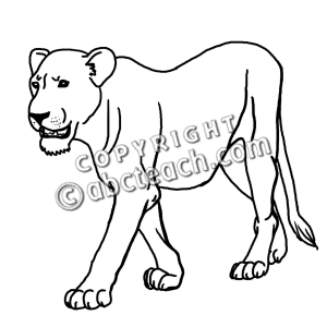 Lioness clipart And Clipart Clipart Panda Black