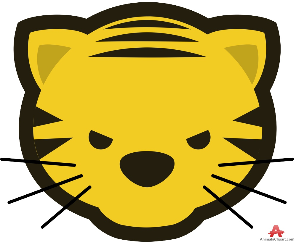 Tiger clipart yellow #1