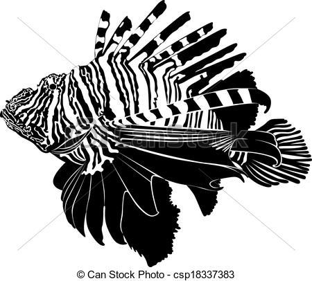 Lionfish clipart  aquarium Vector Zebra Lionfish