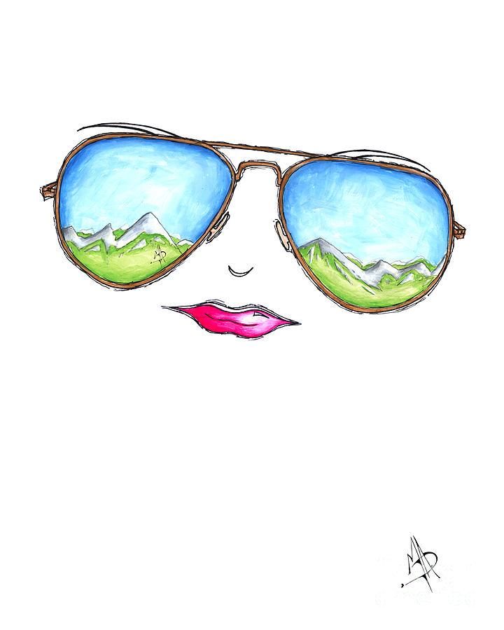 Lips clipart aviator sunglasses Mountain Art Aviator Lips 2015