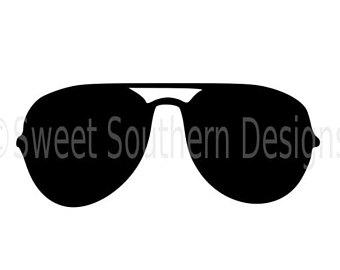 Lips clipart aviator sunglasses Outline instant silhouette Etsy for