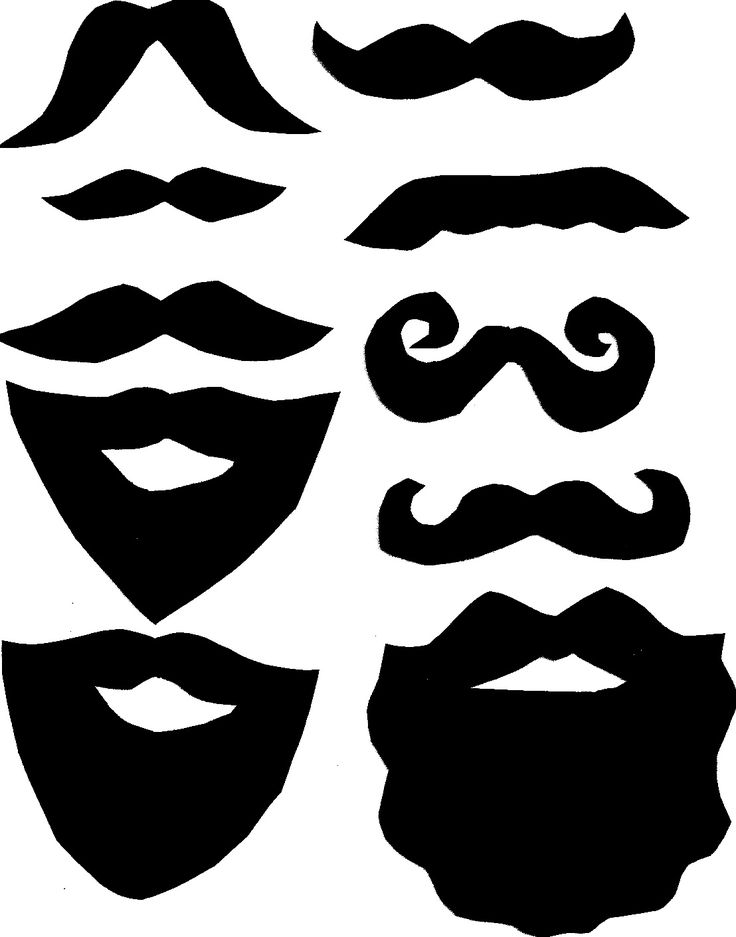 Dark Blue clipart mustache Moustache Booth Pinterest ideas Printable