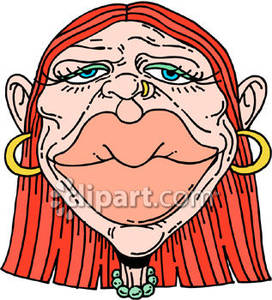 Lips clipart big lip Huge Woman with Royalty Clipart