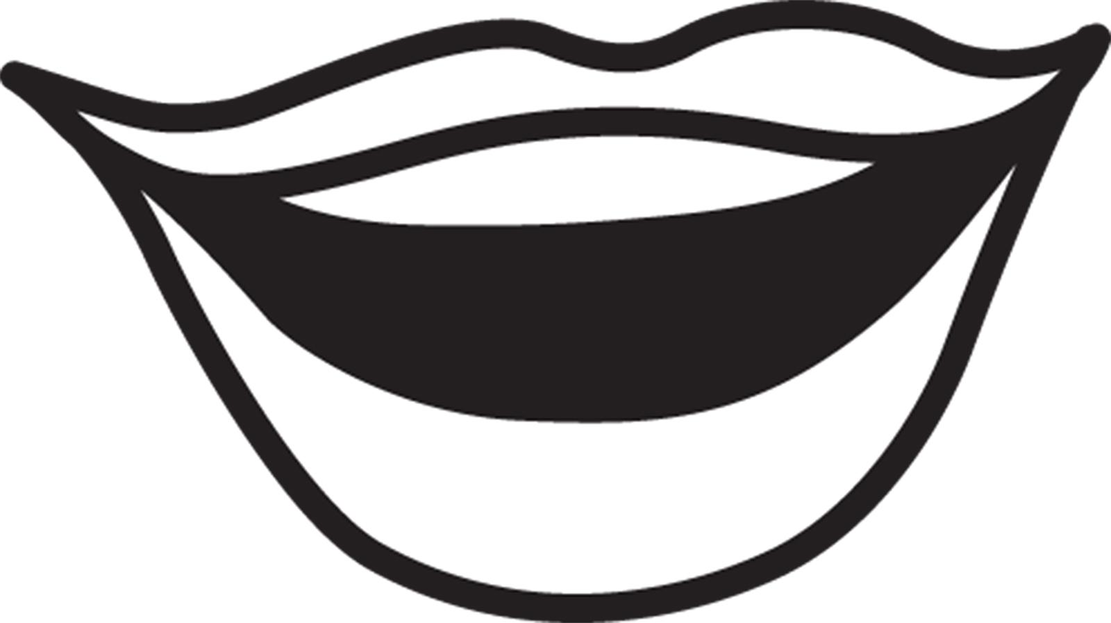 Tongue clipart outline #4