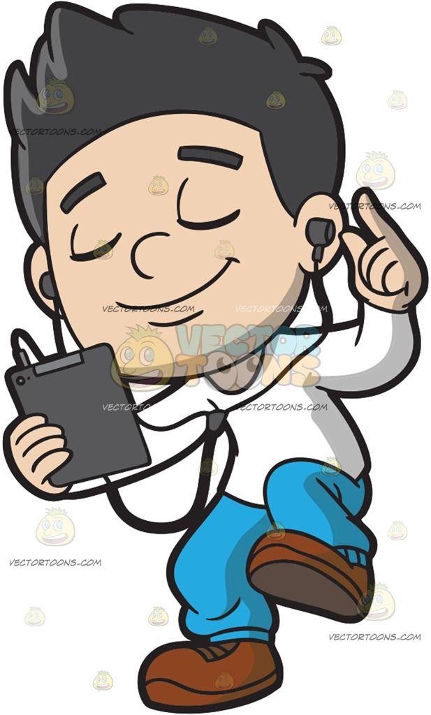 Lips clipart boy Boy Listens Cartoon His Clip