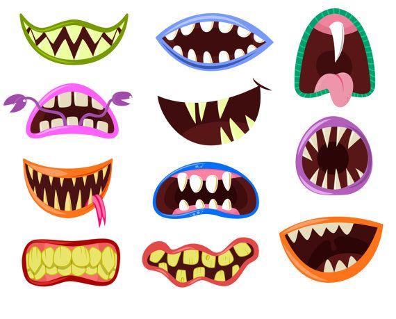 Teeth clipart halloween Mouth om Clip clipart art