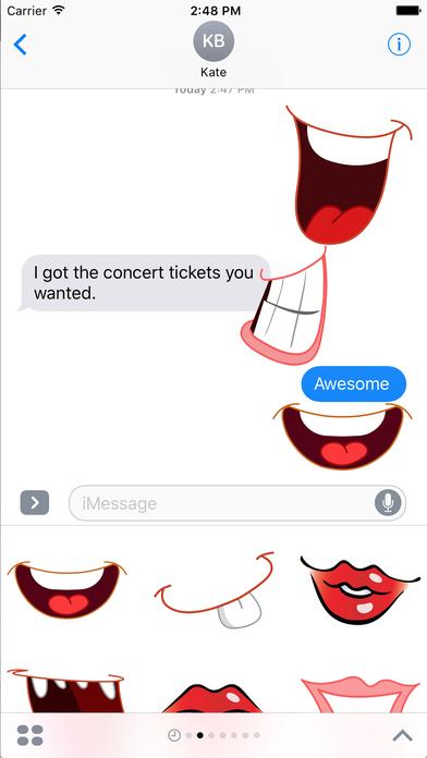 Lips clipart emoji Mouth Screenshots Emoji Store on
