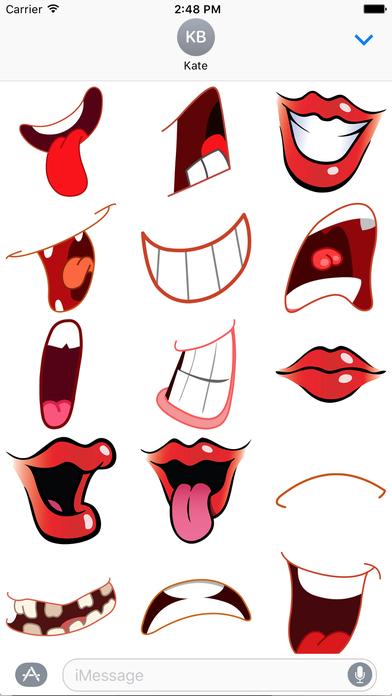 Lips clipart emoji Store Emoji Screenshot Lips App