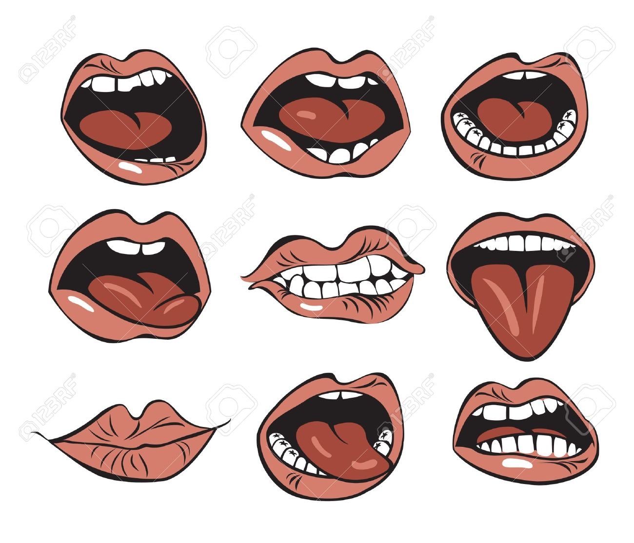 Lips clipart funny Funny Lips Lips Clipart Clipart