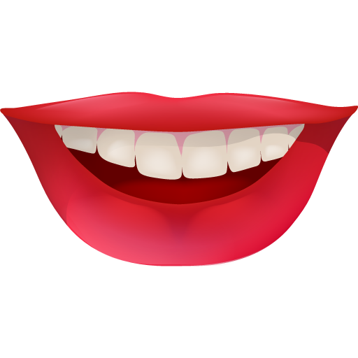 Lips clipart funny Red smiley smile happy icon