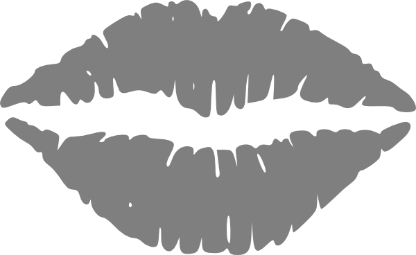 Lips clipart gray Clip art Clker Art Grey