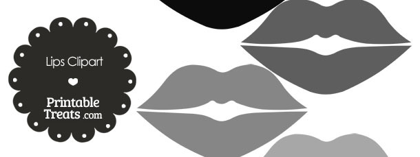 Lips clipart gray Of in Clipart com Grey