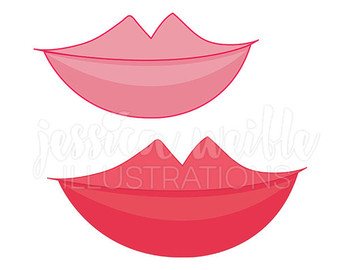 Lips clipart hot pink Cute Lips Commercial Cute Red