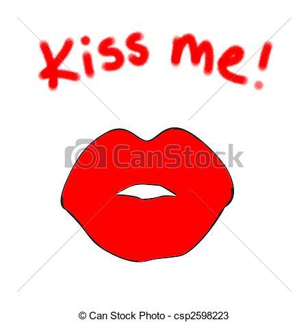 Lipstick clipart kiss me Kiss Kiss  Me Valentines