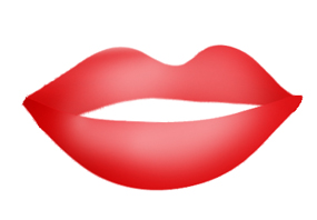 Kisses clipart mouth Kissy kissy lips outline lips