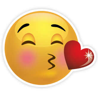 Kisses clipart emoji Cliparting face getbellhop lips smiley