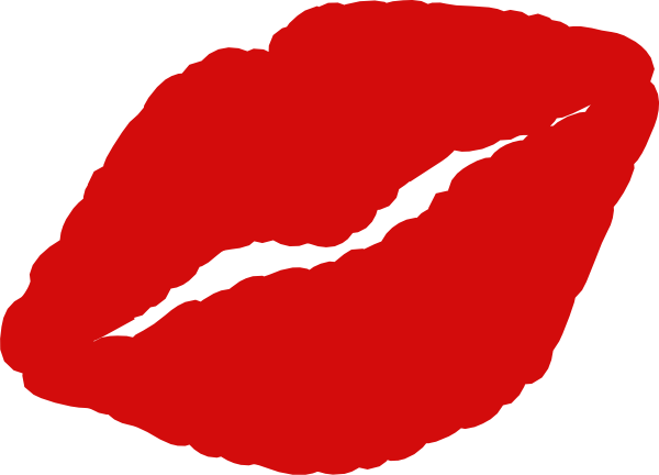 Lipstick clipart kissy lip Red Woman Smiling Clipart