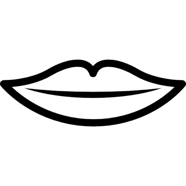 Lips clipart lip outline Outline Mouth lips outline files