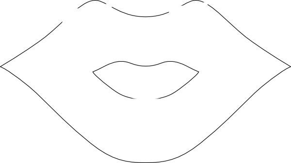 Lips clipart lip outline Lip as: this clip image