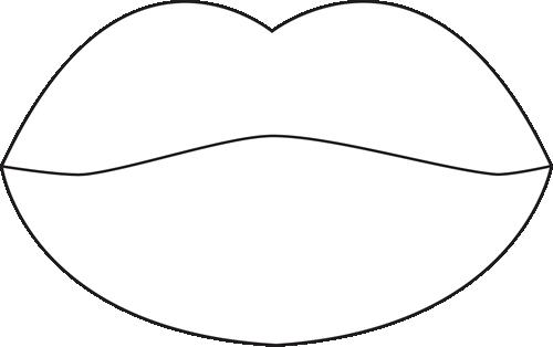 Lips clipart lip outline Art White Free Lips Clipart