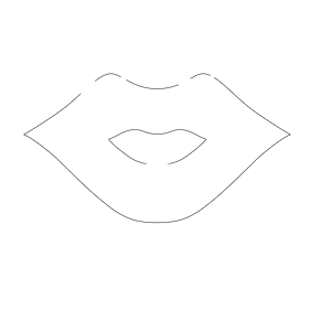Lips clipart lip outline Lip of (wmf cliparts of
