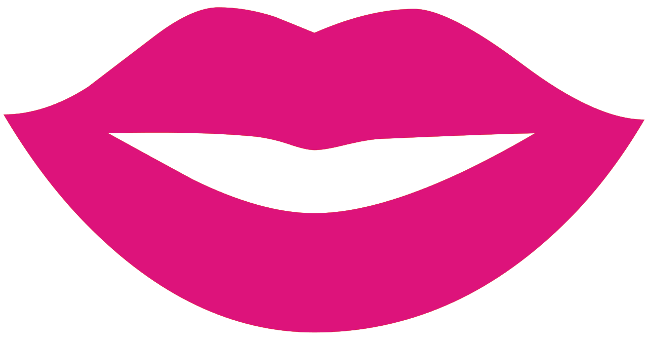 Lips clipart lip outline Silhouette File:Lips Silhouette svg Commons