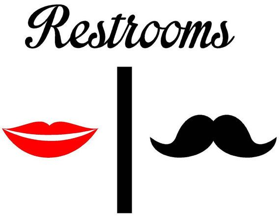 Lips clipart men's Men Signs Men  Room