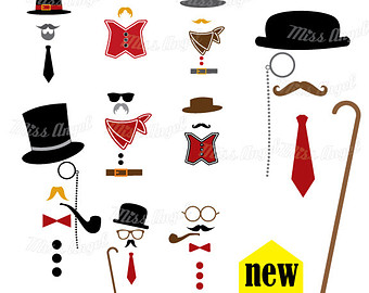 Lips clipart monocle Eyeglass FREE mustache party Moustache