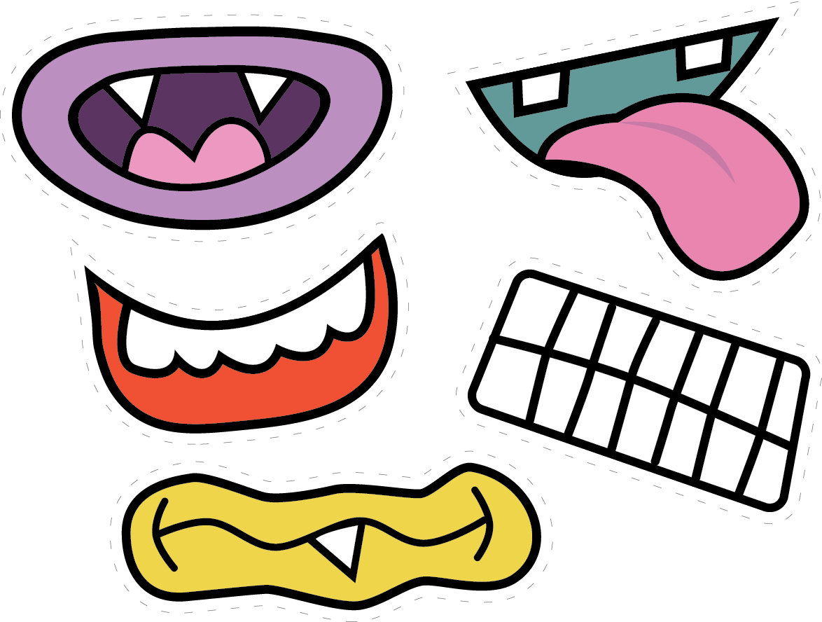 Pink Eyes clipart monster head Mouth kid Cliparting mouth Monster