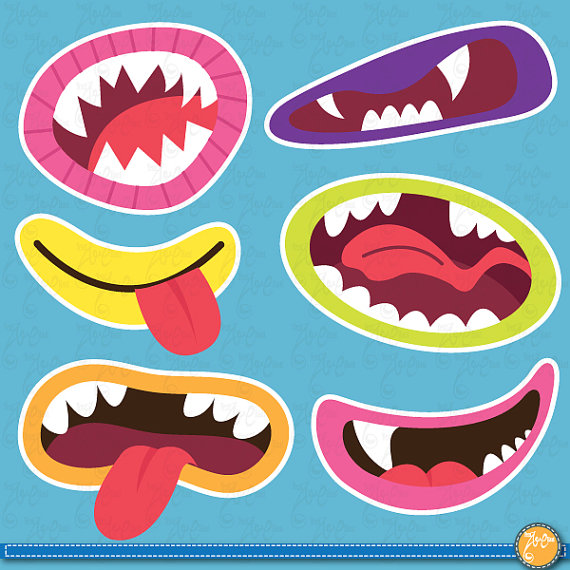 Monster clipart lip #3