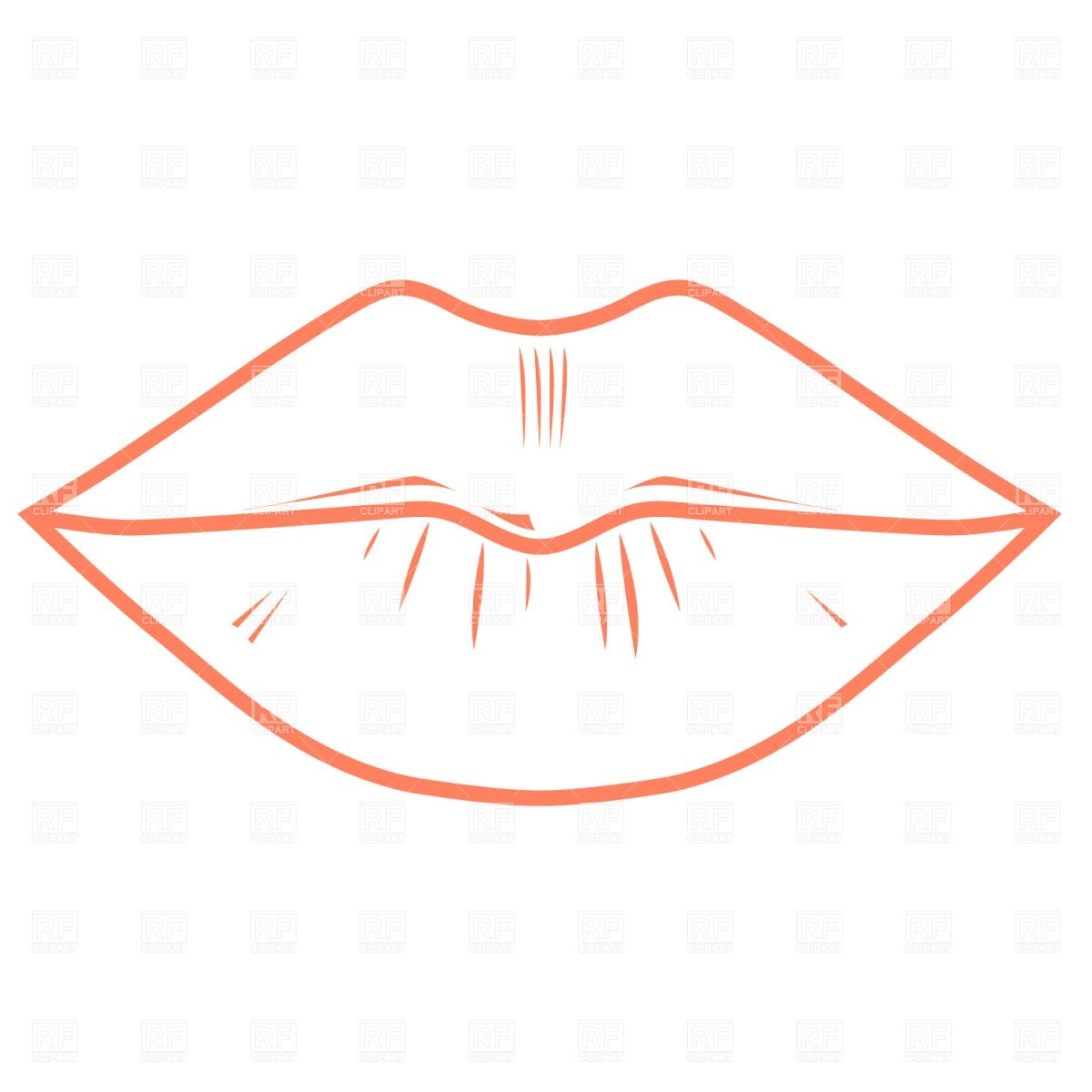 Lipstick clipart outline Outline Puppies Outline Damian lips