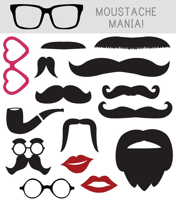 Halloween clipart photo booth Moustache on 00 Art Props