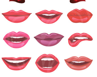 Lips clipart printable Lips Different Party Clipart Red