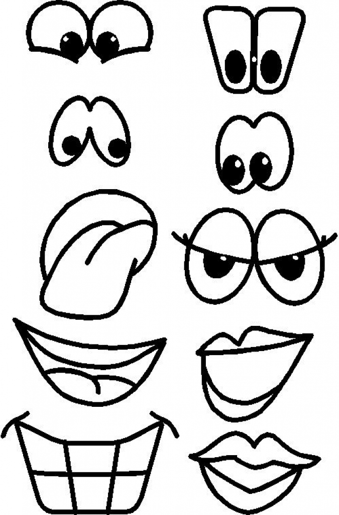 Lips clipart printable Pinterest eyes nose templates eyes