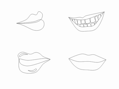 Lips clipart printable Lips shapes  Lips clip