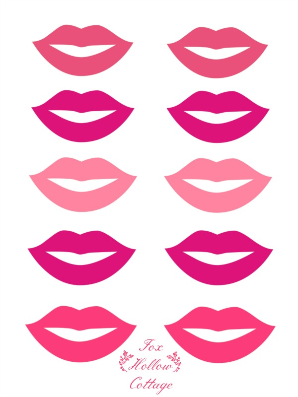 Lips clipart printable And Fox  Free Mustache