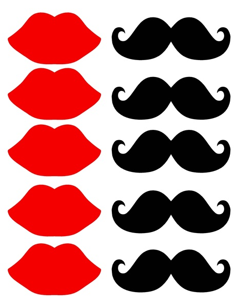 Lips clipart printable Lips Free! It's Mustache ScrapPNG