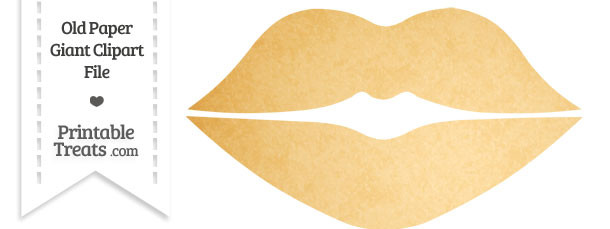 Lips clipart printable Old — Treats Clipart Paper