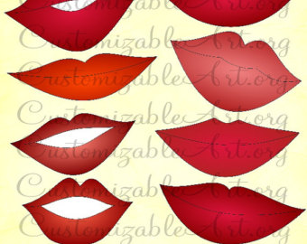 Lips clipart printable Lips Red Red Shine Lips