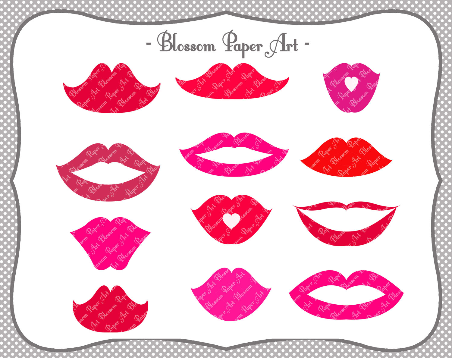 Lips clipart printable DIY Lips Props Lips DIY