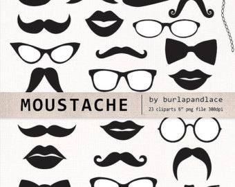 Tie clipart photo booth prop Art ClipArt Art Mustache party