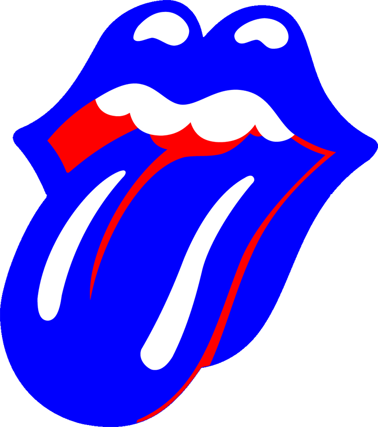 Tongue clipart rolling stones #4
