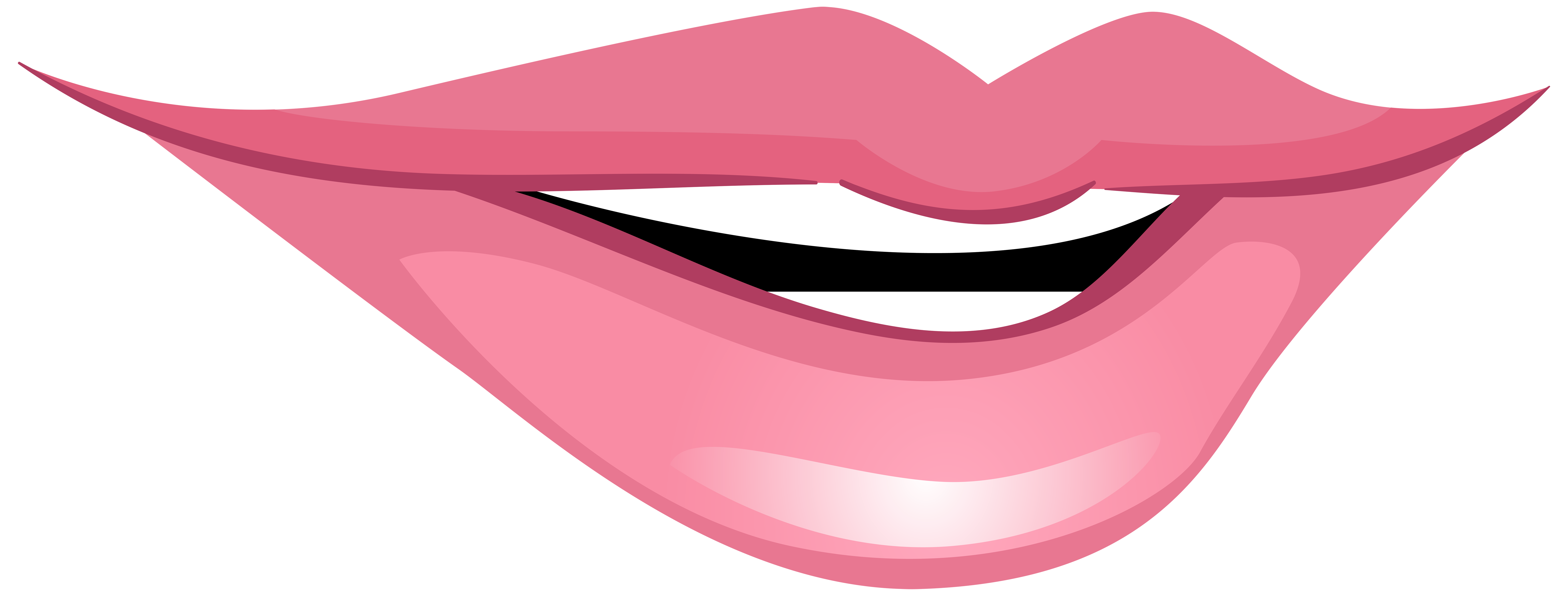 Lips clipart straw Mouth Clip Smiling Pink Smiling