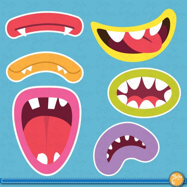 Monsters Set and art clipart