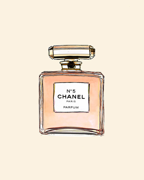 Makeup clipart chanel perfume Perfume by Watercolor Art Watercolor