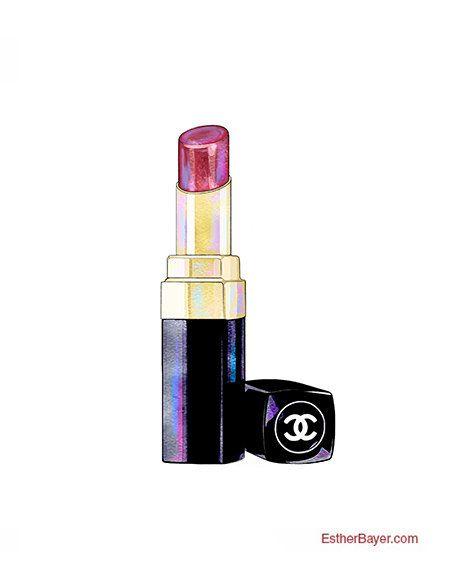 Chanel clipart lipstick Fine Art $14 Colorful 262