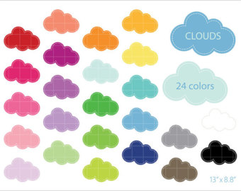 Clouds clipart colorful cloud 24 Clip Colorful NedtiDesigns Color